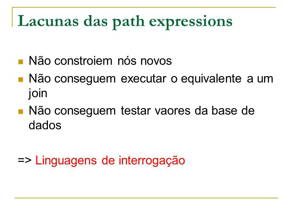 Lacunas das path expressions
