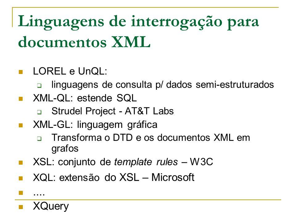 Linguagens de interrogação para documentos XML