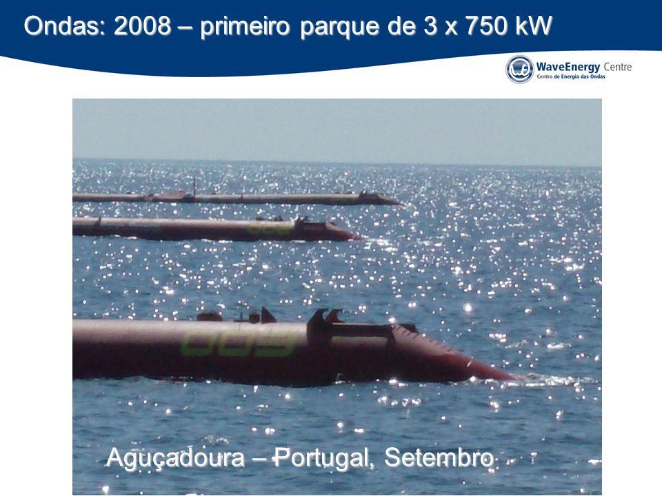 Ondas: 2008 – primeiro parque de 3 x 750 kW
