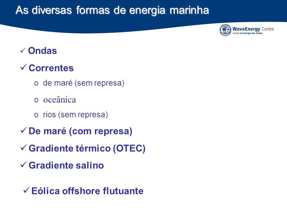 As diversas formas de energia marinha