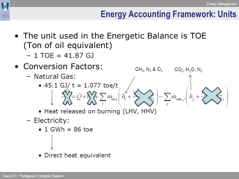 Energy Accounting Framework: Units