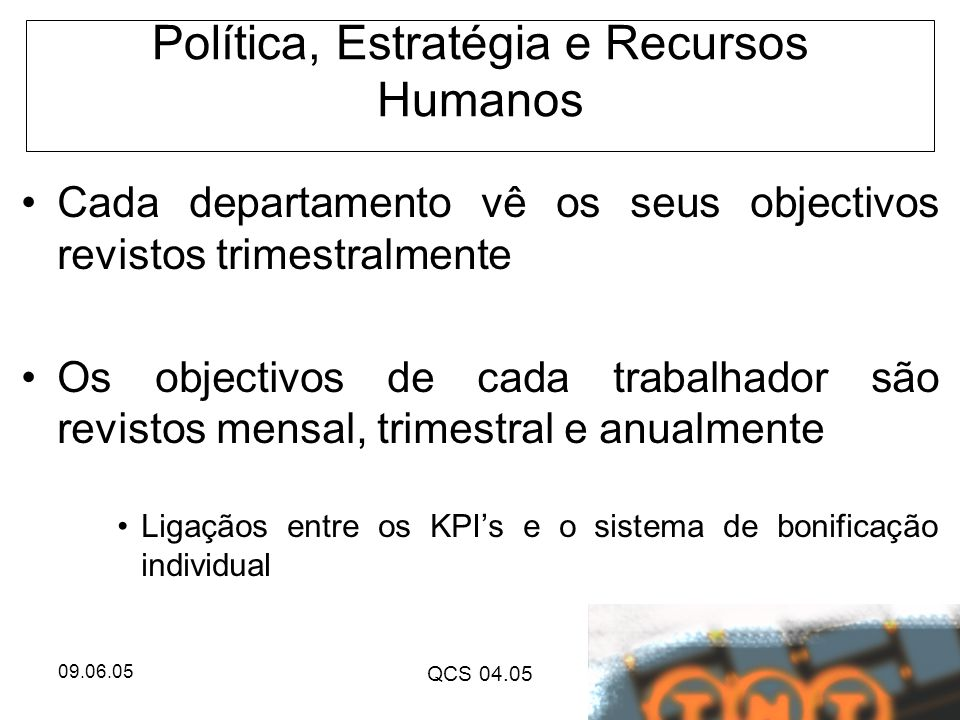 Política, Estratégia e Recursos Humanos