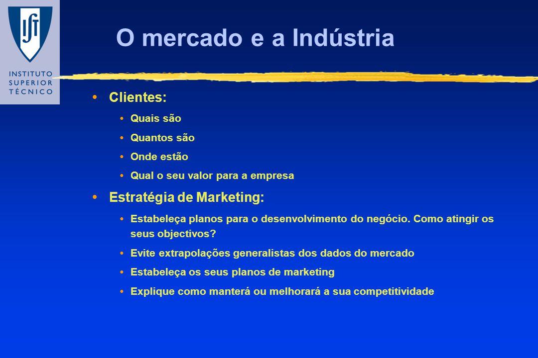 O mercado e a Indústria Clientes: Estratégia de Marketing: Quais são