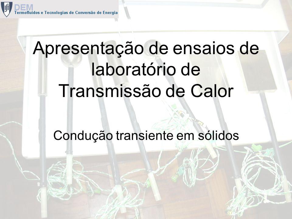 Apresentação de ensaios de laboratório de Transmissão de Calor
