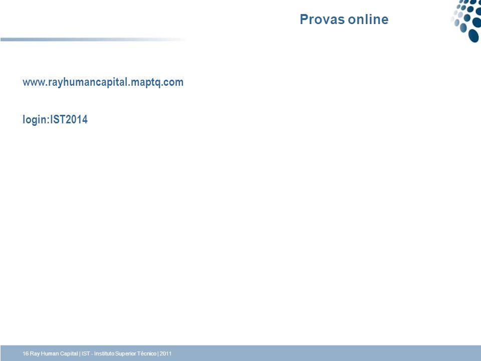 Provas online www.rayhumancapital.maptq.com login:IST2014
