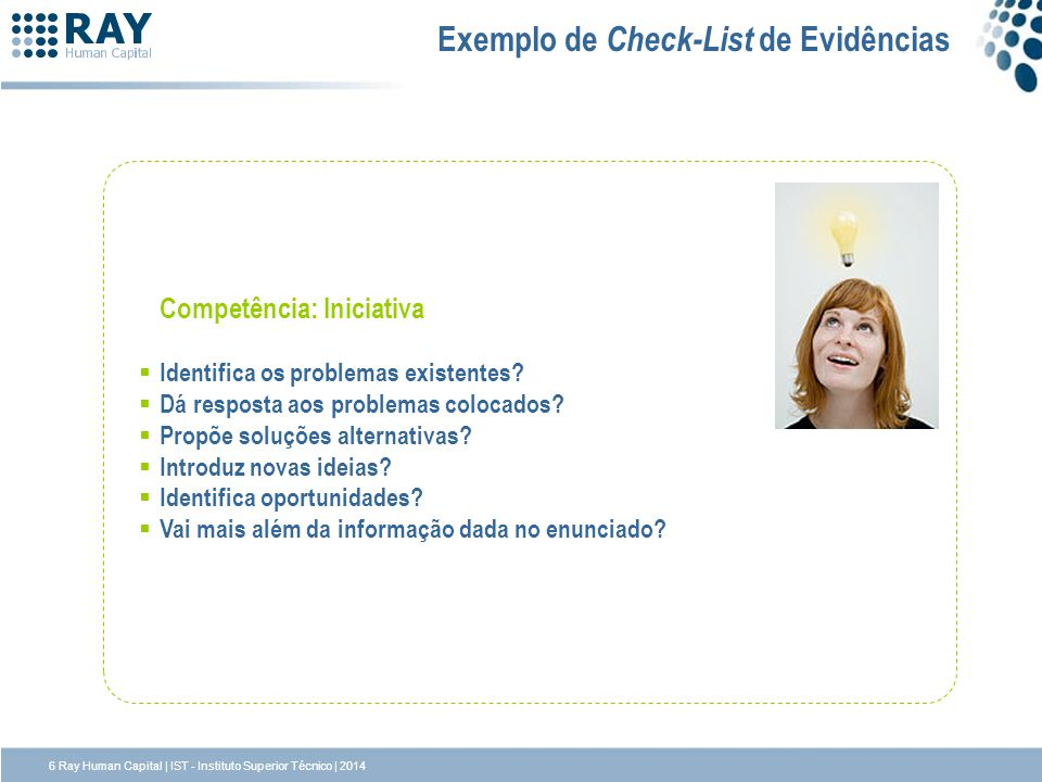 Exemplo de Check-List de Evidências