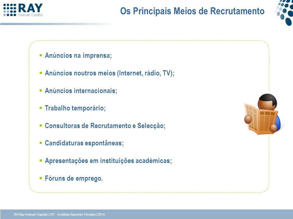Os Principais Meios de Recrutamento