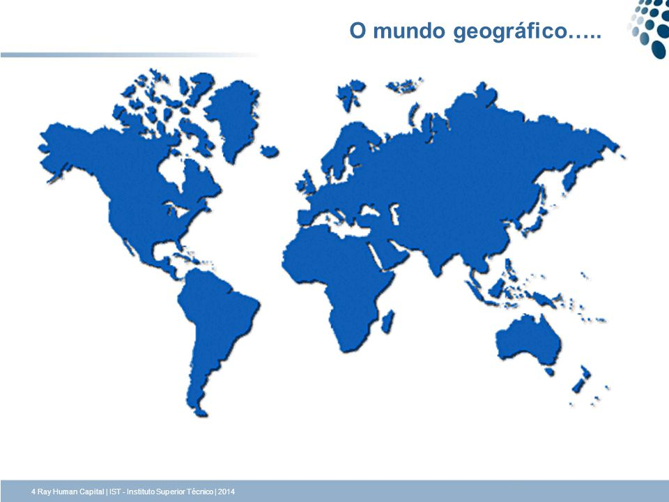 O mundo geográfico…..