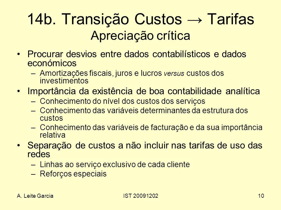 14b. Transição Custos → Tarifas Apreciação crítica