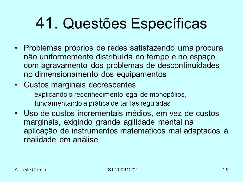 41. Questões Específicas