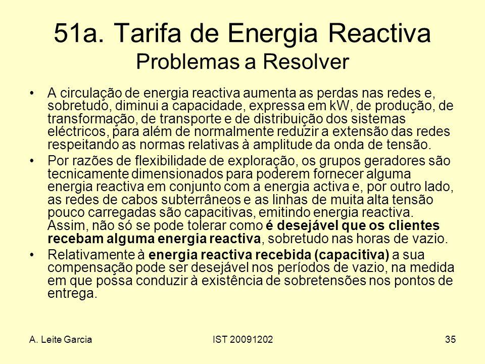 51a. Tarifa de Energia Reactiva Problemas a Resolver