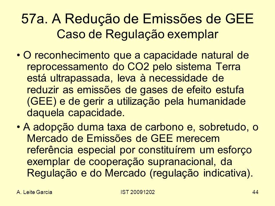 57a. A Redução de Emissões de GEE Caso de Regulação exemplar