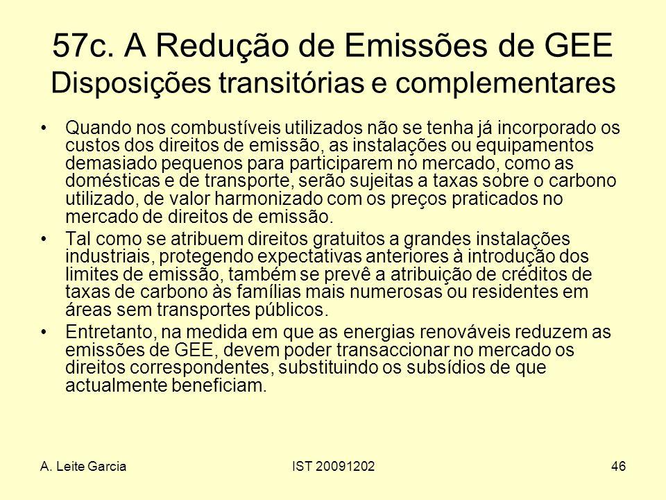 57c. A Redução de Emissões de GEE Disposições transitórias e complementares