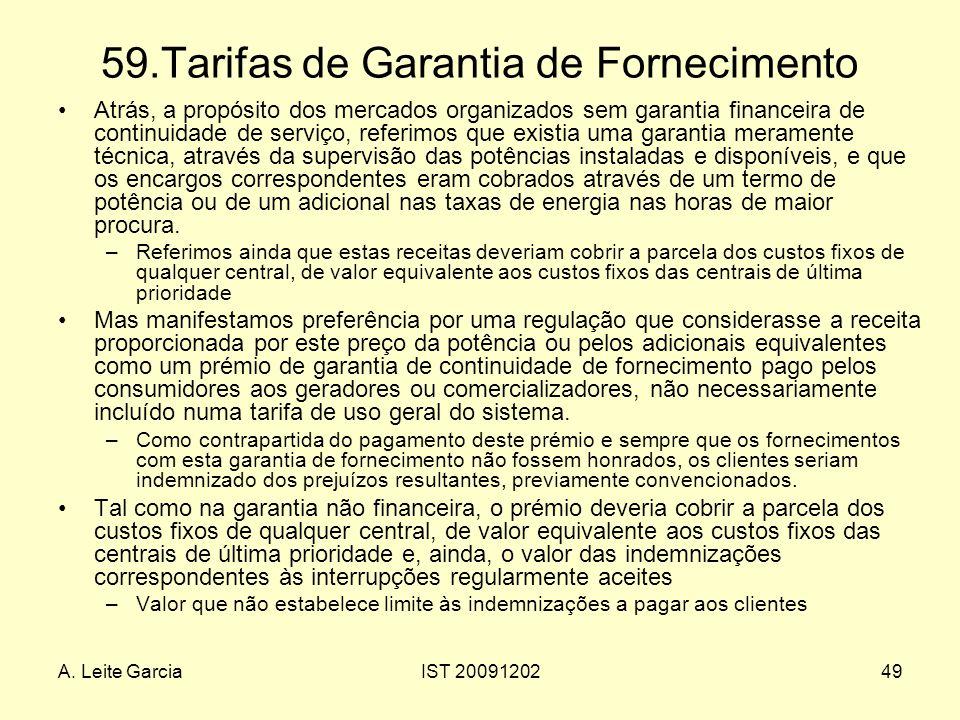 59.Tarifas de Garantia de Fornecimento