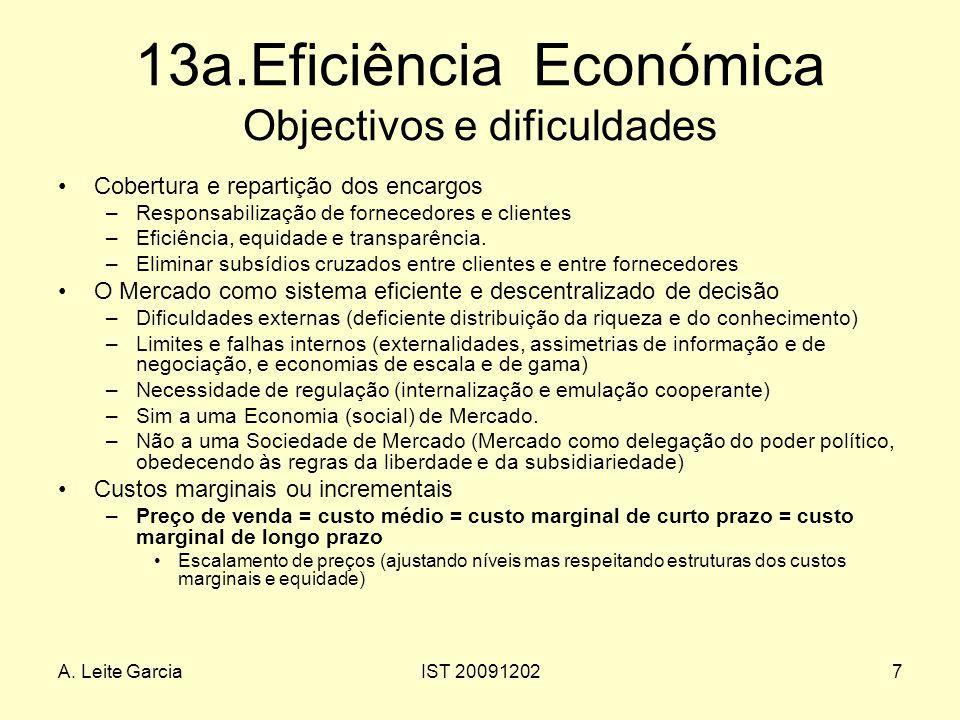 13a.Eficiência Económica Objectivos e dificuldades