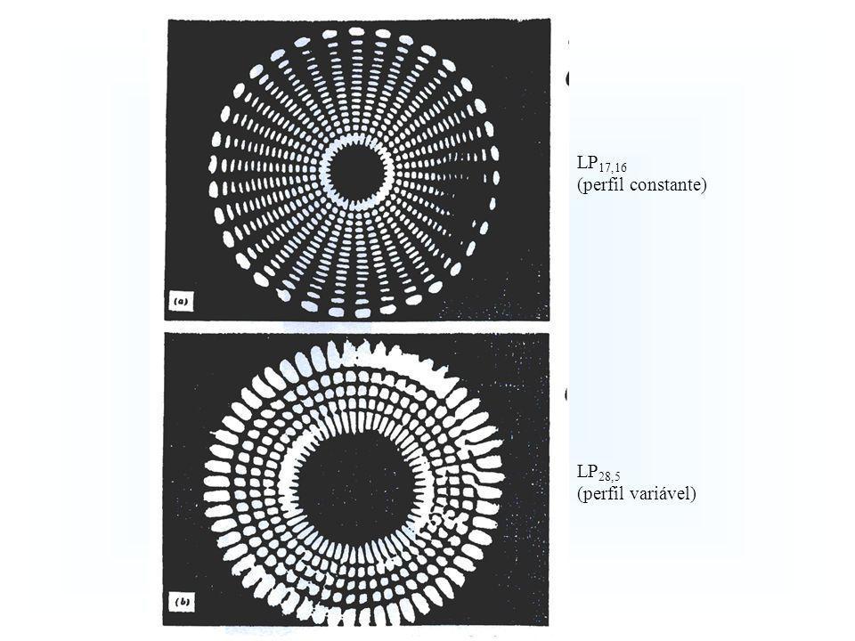 LP17,16 (perfil constante) LP28,5 (perfil variável) 10