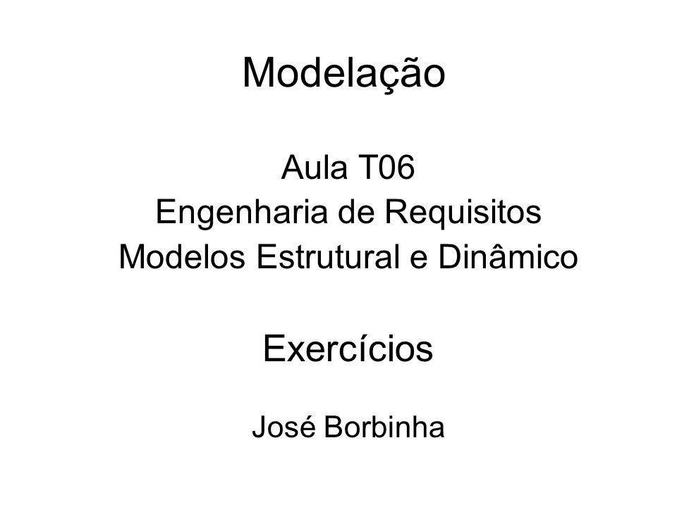 Modelação Exercícios Aula T06 Engenharia de Requisitos