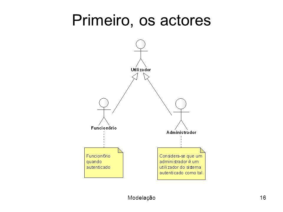 Primeiro, os actores Modelação