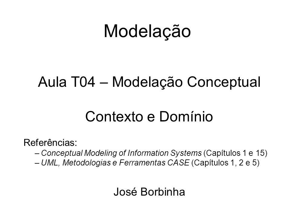 Aula T04 – Modelação Conceptual