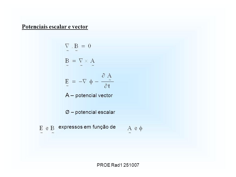 Potenciais escalar e vector