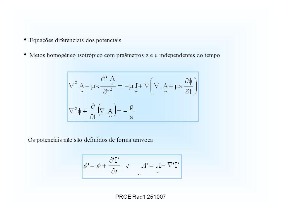 Equações diferenciais dos potenciais