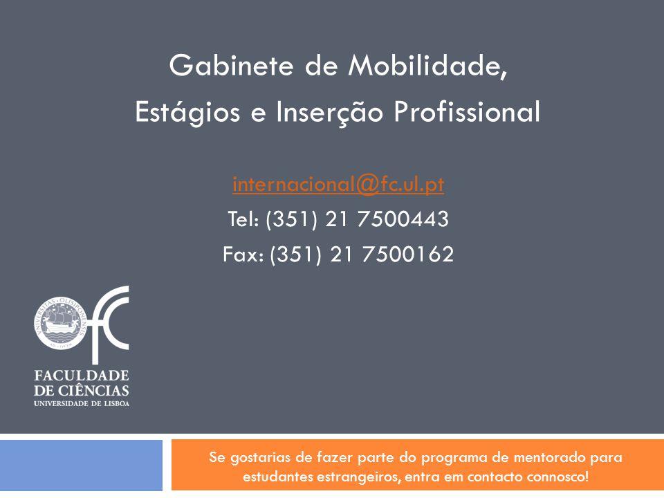 Gabinete de Mobilidade, Estágios e Inserção Profissional