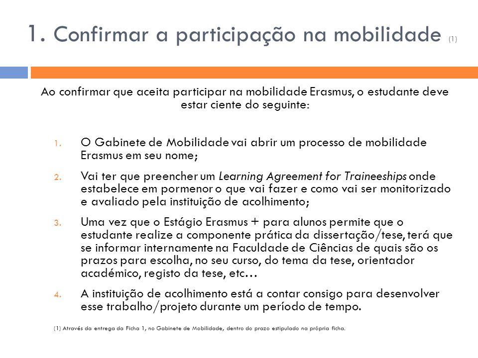 1. Confirmar a participação na mobilidade (1)