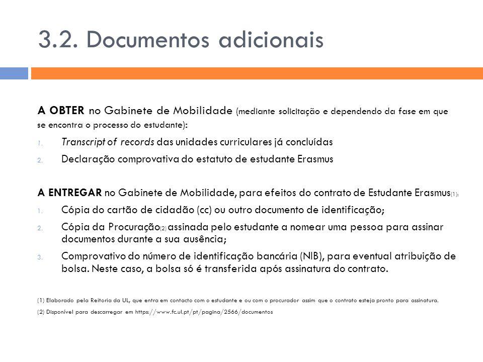 3.2. Documentos adicionais
