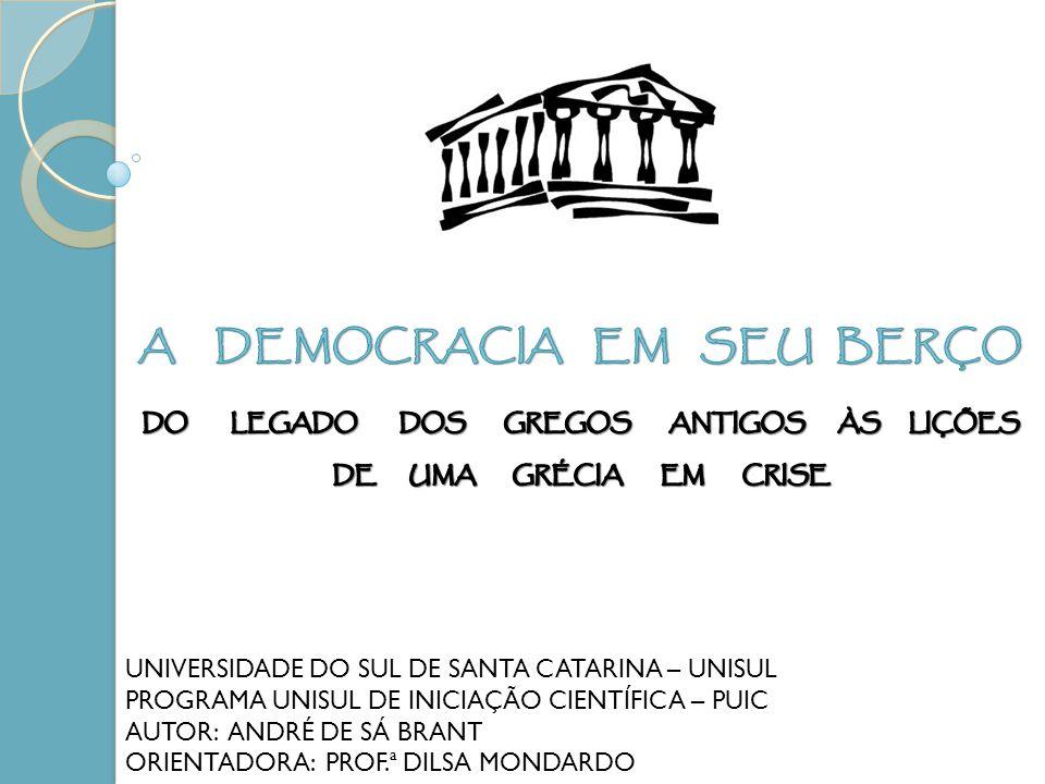 A DEMOCRACIA EM SEU BERÇO