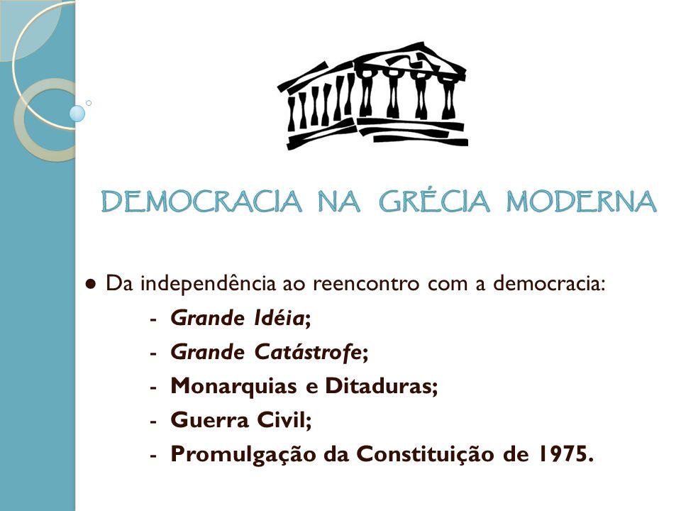 DEMOCRACIA NA GRÉCIA MODERNA