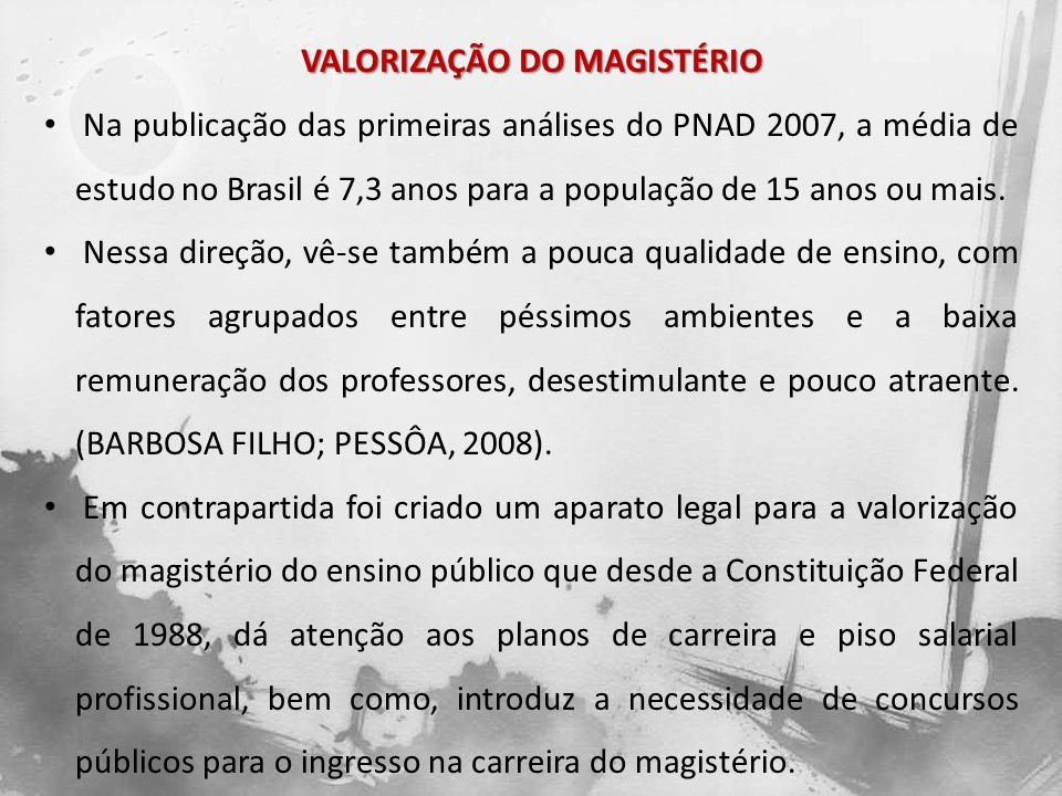 VALORIZAÇÃO DO MAGISTÉRIO