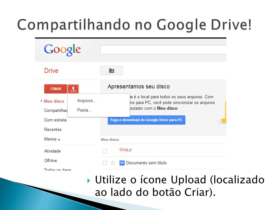 Compartilhando no Google Drive!