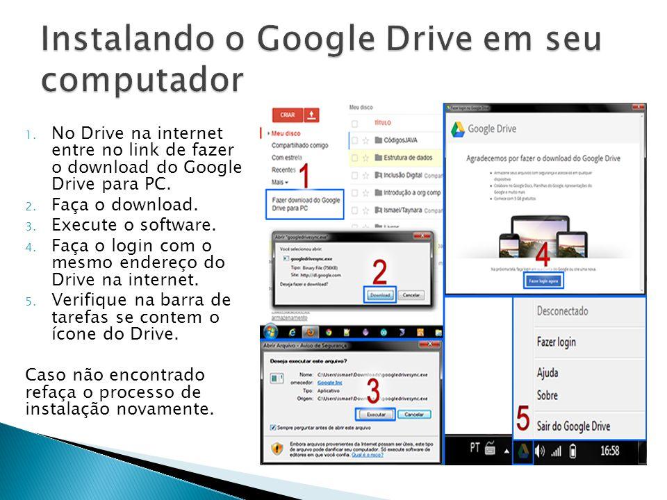 Instalando o Google Drive em seu computador