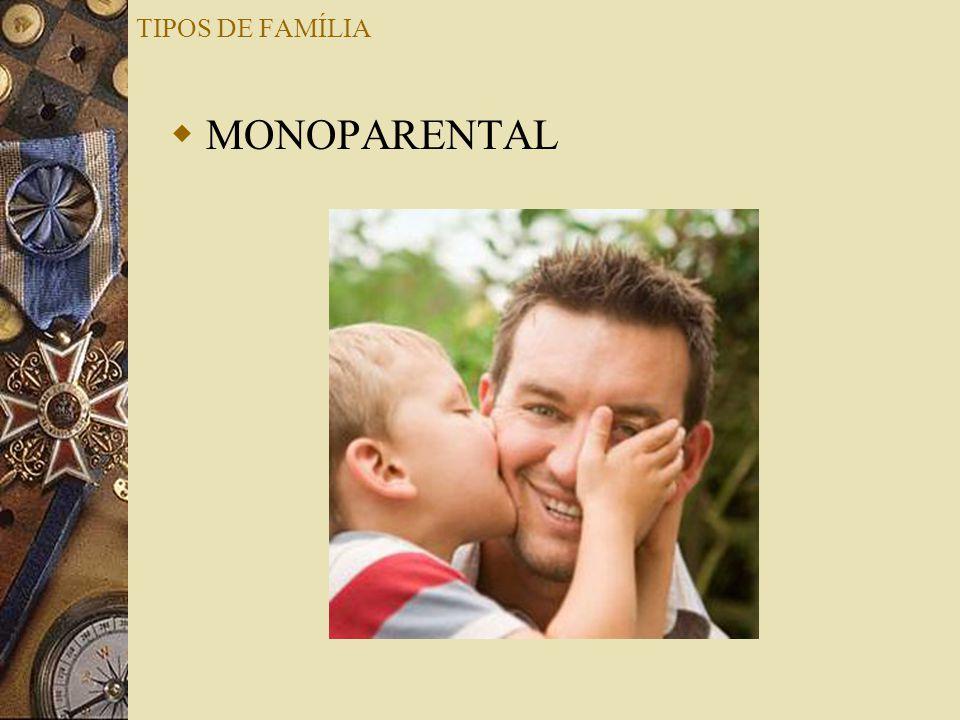 TIPOS DE FAMÍLIA MONOPARENTAL