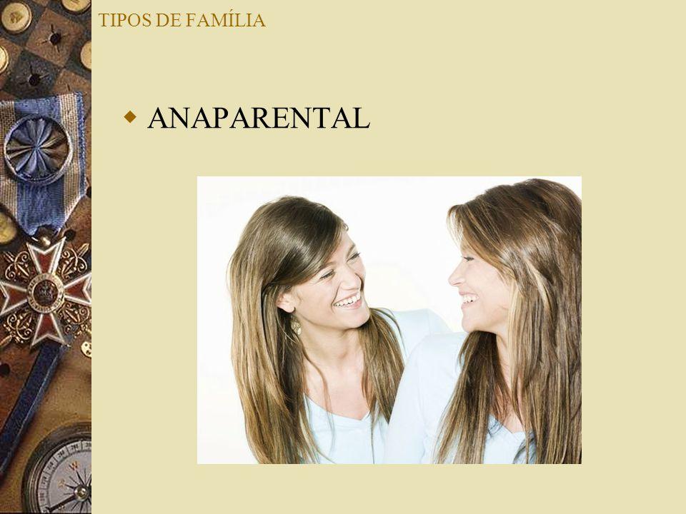 TIPOS DE FAMÍLIA ANAPARENTAL