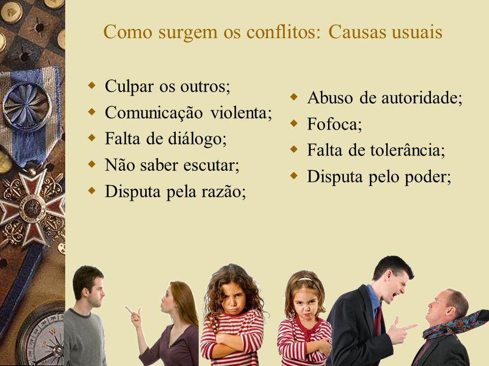 Como surgem os conflitos: Causas usuais
