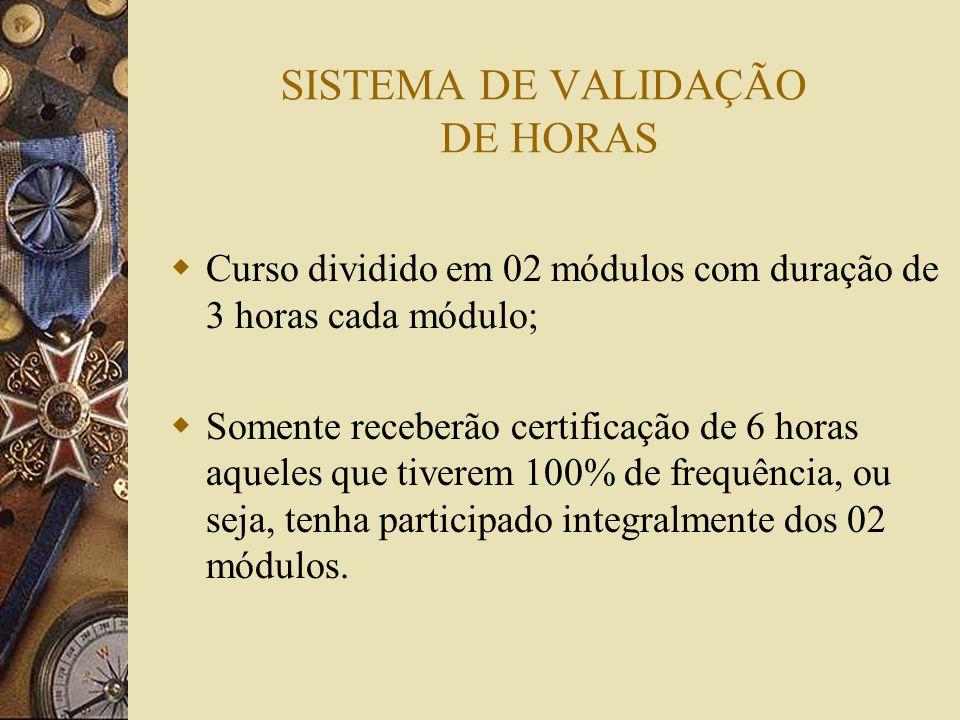 SISTEMA DE VALIDAÇÃO DE HORAS