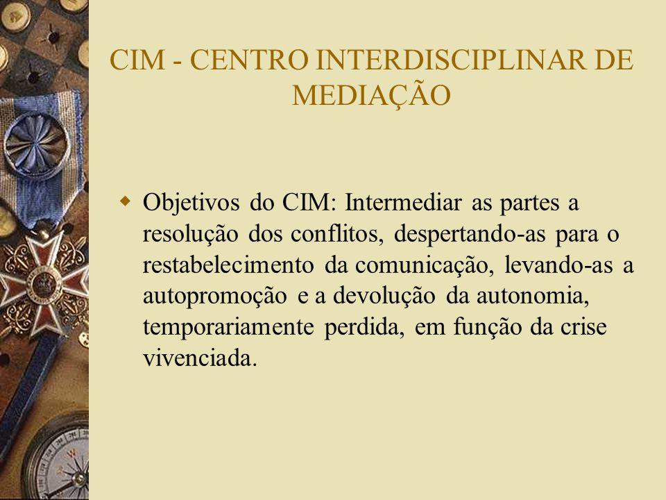 CIM - CENTRO INTERDISCIPLINAR DE MEDIAÇÃO