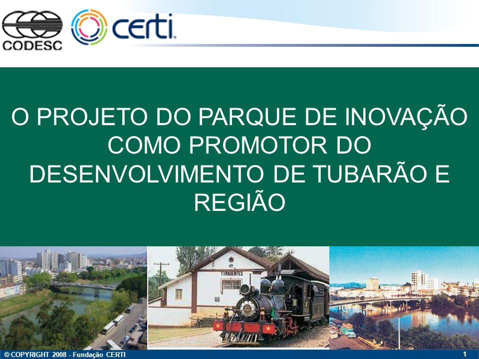 O PROJETO DO PARQUE DE INOVAÇÃO COMO PROMOTOR DO DESENVOLVIMENTO DE TUBARÃO E REGIÃO