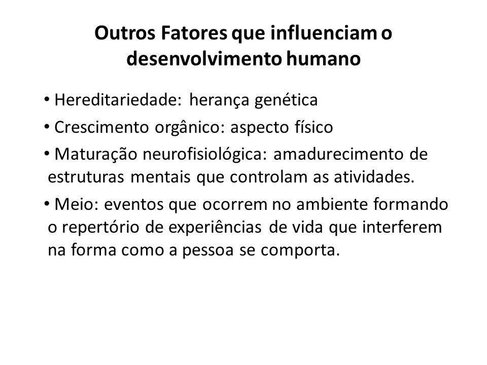 Outros Fatores que influenciam o desenvolvimento humano
