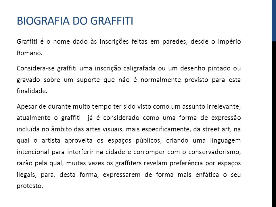 Biografia do graffiti