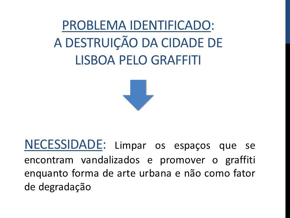 Problema identificado: A destruição da cidade de lisboa pelo graffiti