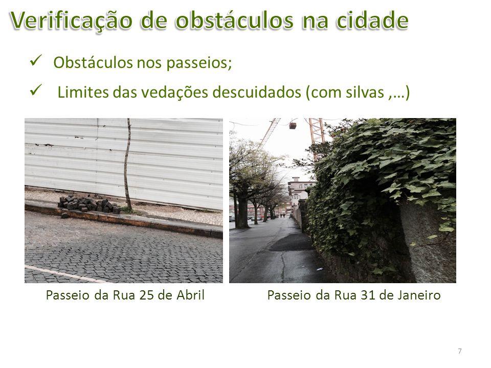 Verificação de obstáculos na cidade