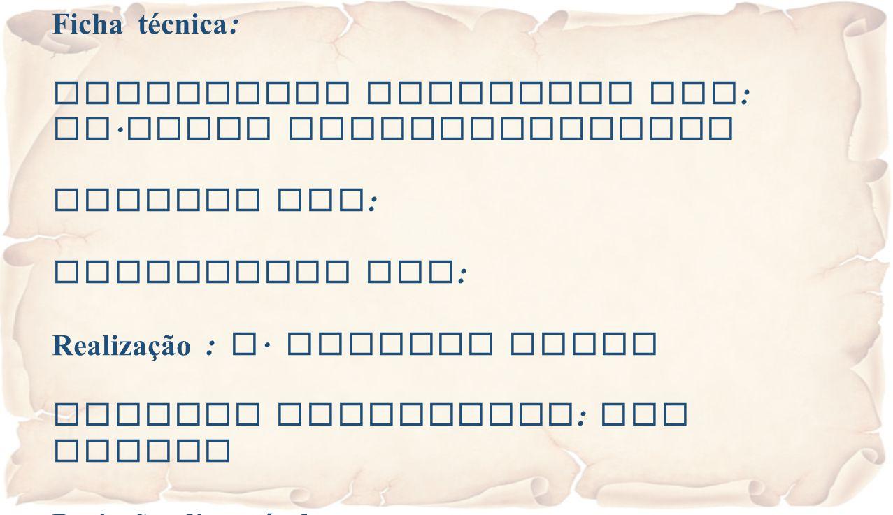 Ficha técnica: Eucaristia Celebrada por: Fr.Jacob Puthiyaparampil. Animada por: Projectada por: Realização : A. Alberto Sousa.