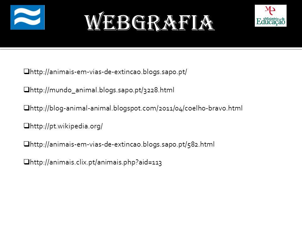 Webgrafia http://animais-em-vias-de-extincao.blogs.sapo.pt/