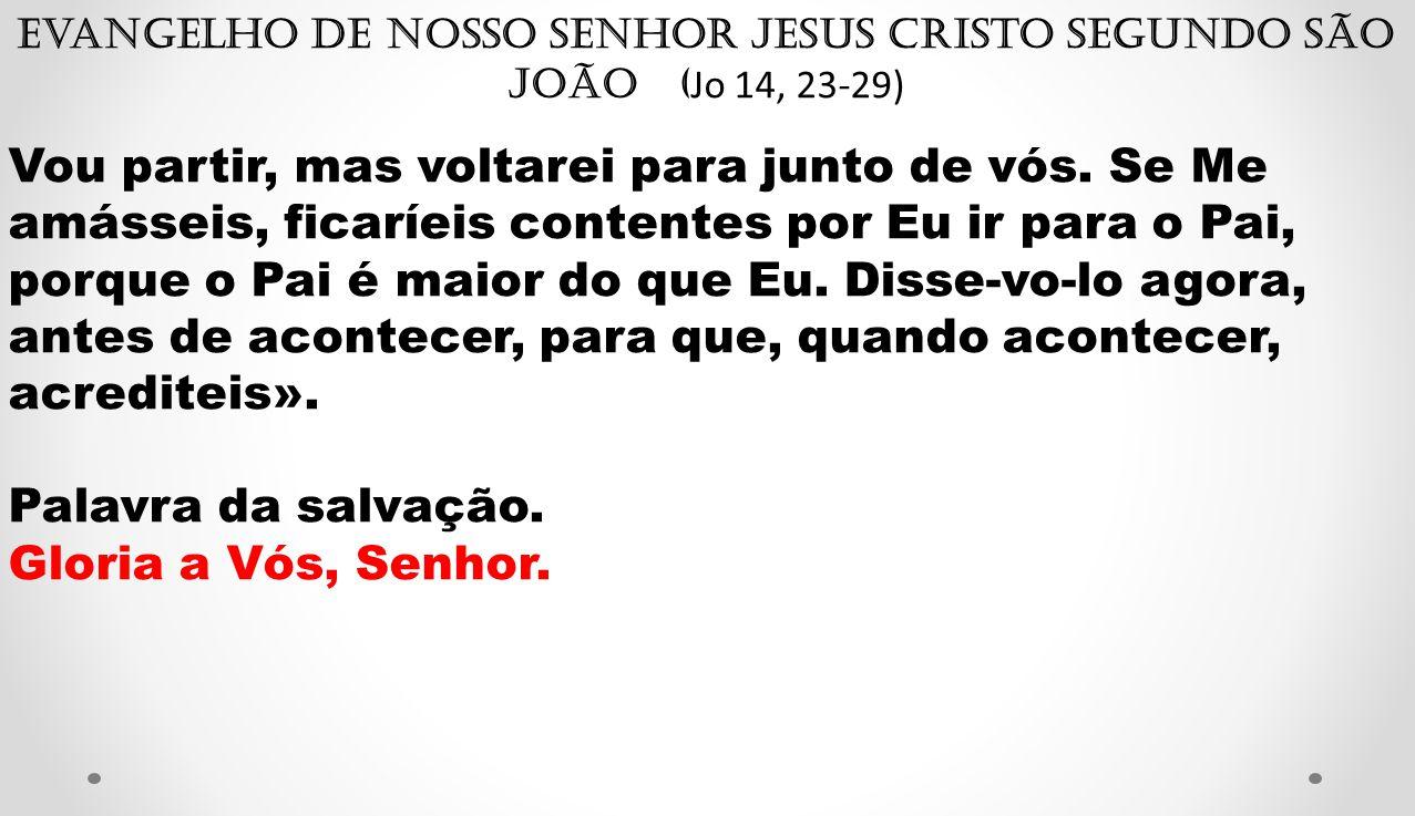 Evangelho de Nosso Senhor Jesus Cristo segundo São João (Jo 14, 23-29)