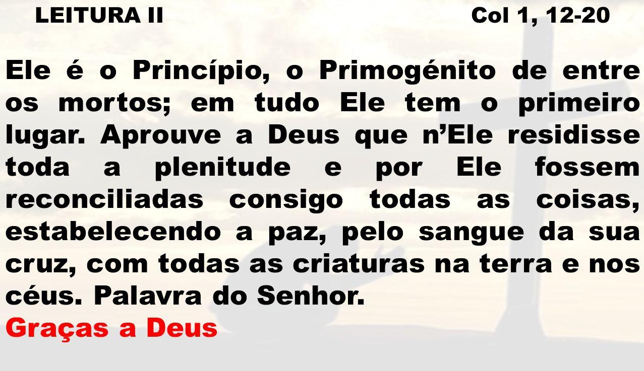 LEITURA II Col 1, 12-20