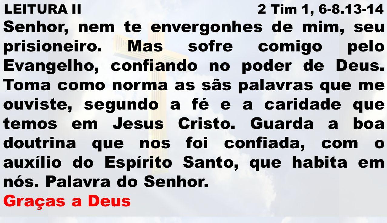 LEITURA II 2 Tim 1, 6-8.13-14