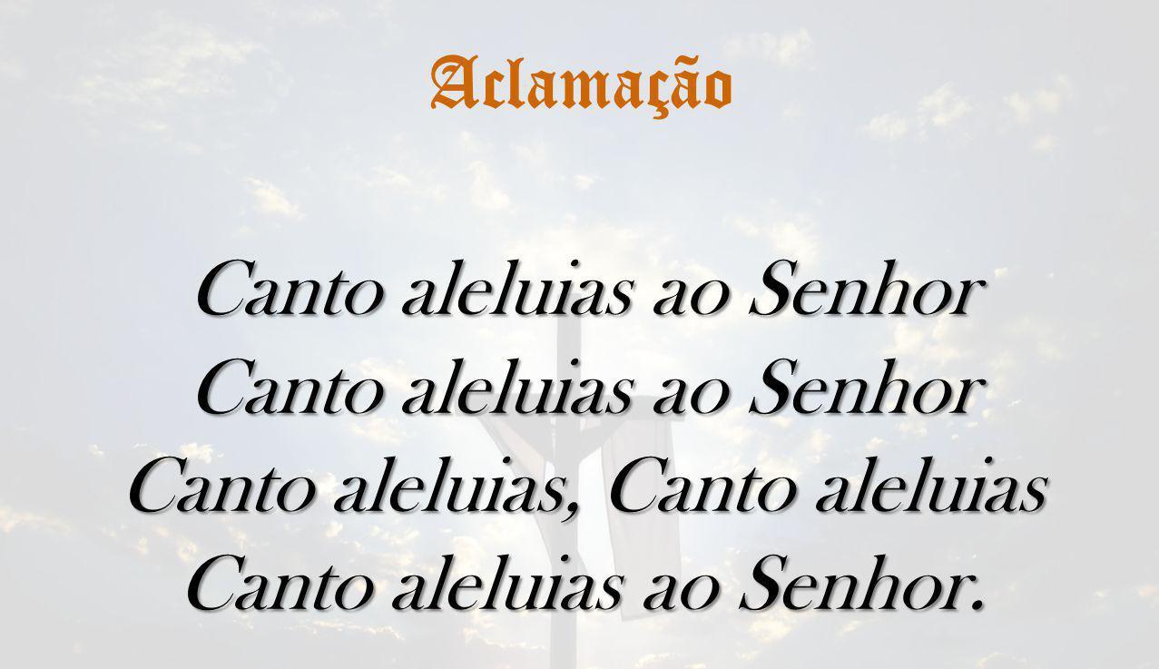 Canto aleluias ao Senhor Canto aleluias, Canto aleluias