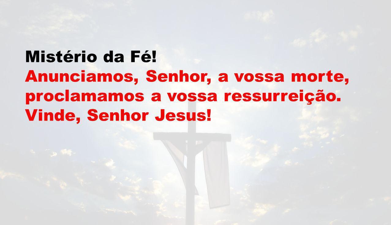 Mistério da Fé. Anunciamos, Senhor, a vossa morte, proclamamos a vossa ressurreição.